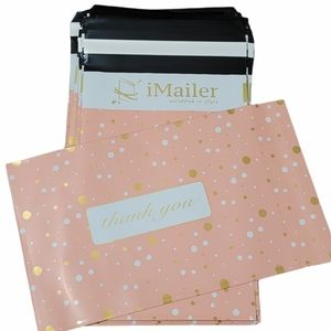30 pieces 6 x 9 inch  Pink Polka Dot-Thank You Poly Mailer Envelope